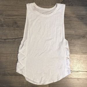 White Braided Lululemon Tank